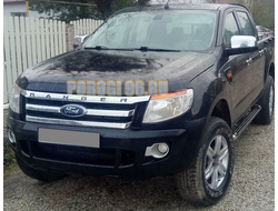 Защита радиатора Ford Ranger 2012- black PREMIUM