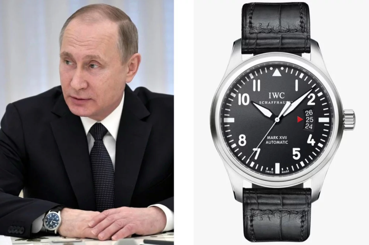 Путин в часах IWC Pilot's Watch Mark XVII