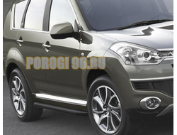 Пороги на Citroёn C-Crosser(2007-2013) Black