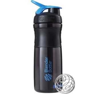 Blender Bottle® SportMixer 500 ml Black/Cyan