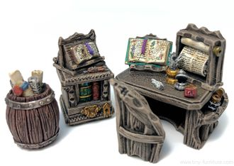 Scriptorium copyist desk (painted)