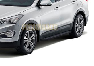 Пороги на Hyundai Grand Santa Fe (2013-…) Start Black