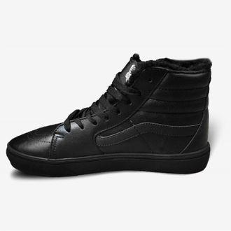 900bf343031e Кеды Vans Old Skool зимние черные кожаные в Смоленске