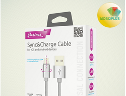 Кабель USB 2.0 - MAGIC 5/8 (microUSB+Lightning), 1м, 2.1А, Partner
