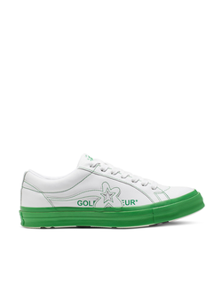 Кеды Converse X Golf Le Fleur Colorblock One Star зеленые низкие