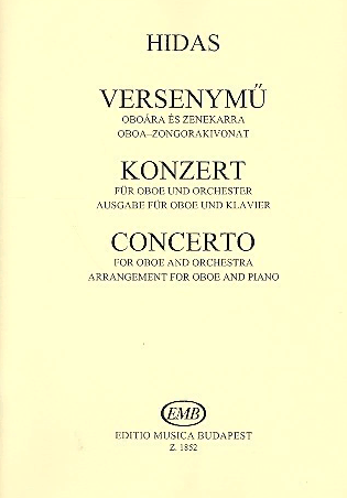 Hidas, Frigyes Concerto for oboe and orchestra : for oboe and piano