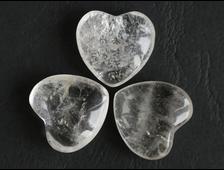 Сердце Кварц (горный хрусталь) в ассортименте, Бразилия (24*23*10 мм, 10 г) №1808