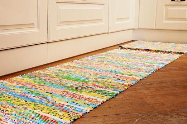 Дизайнерские тканые коврики ручной работы