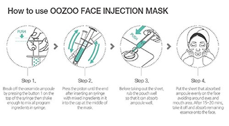 The Oozoo Face Injection Mask Illumination - Маска для лица с энзимами для интенсивного сияния