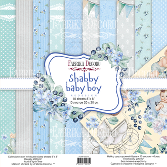 "НАБОР СКРАПБУМАГИ ""SHABBY BABY BOY REDESIGN"" 20х20СМ"