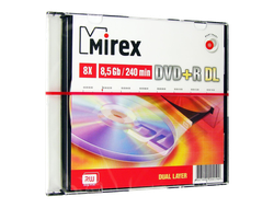 Диск Mirex DVD+R Dual Layer 8.5Gb 8x 240 min video