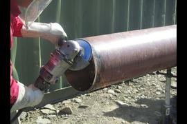 Монтаж системы отопления, сварка трубопроводов.
