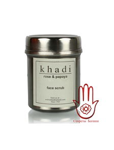 Скраб для лица Роза и Папайя / Rose & papaya face scrub, 50 гр., Khadi