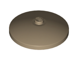 Dish 4 x 4 Inverted Radar with Solid Stud, Dark Tan (3960 / 6038461 / 6283822)