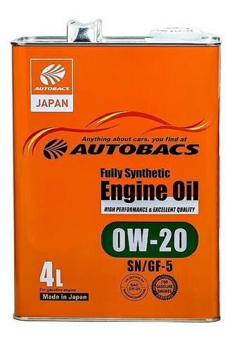 Масло моторное AUTOBACS ENGINE OIL FS 0W-20 4л A01508395