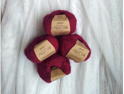 Drops Brushed Alpaca Silk 18 вишневый