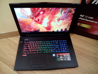 MSI GT72VR 7RE-655RU DOMINATOR PRO (17.3 FHD 120Hz I7-7700HQ GTX1070(8Gb) 16ГБ 1TБ + 240SSD)