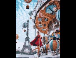 Картина по номерам GX 22860 Воздушные шары Парижа 40*50