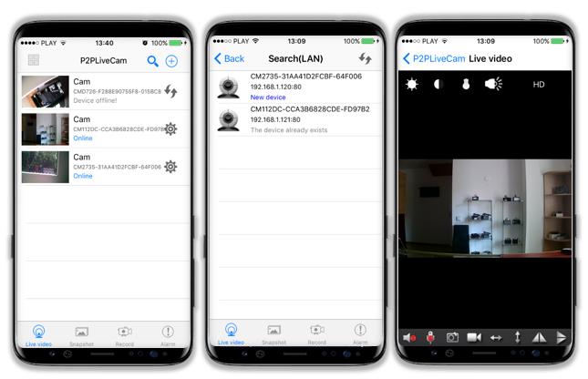 Мобильное приложение p2pLiveCam