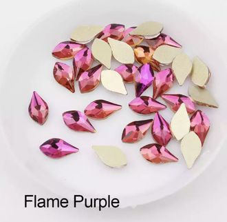 Капля-пламя для маникюра 5*10 мм Flame Purple - 2 шт