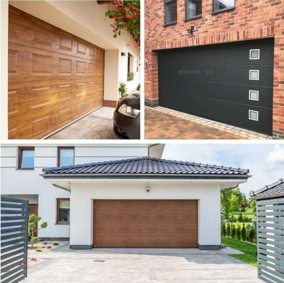 выбор цвета панели и фактуры полотна ворот для гаража