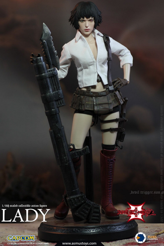 Коллекционная фигурка 1/6 Scale THE DEVIL MAY CRY SERIES : LADY (DMC III) (DMC302) - Asmus Toys