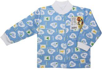 Кофточка ясельная (Артикул 664-043) цвет голубой
