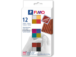 набор Fimo Leather Effect, 12 цветов по 25 грамм