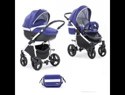 Универсальная коляска Tutis Zippy Тo-Тo (2 в 1) Цвет Темно-фиолетовый/белый Белая рама
