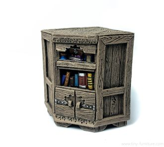 Librarian corner bookshelf (PAINTED)