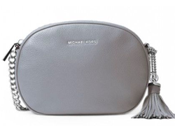 Клатч Michael Kors Ginny Medium Leather Crossbody (Серебряный)