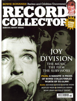 RECORD COLLECTOR Magazine № 342 November 2007 Joy Division Cover Иностранные журналы, Intpressshop