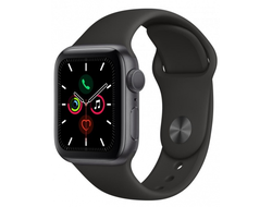 Apple Watch Series 5 44mm Aluminum Case with Sport Band (Серый космос/Чёрный)