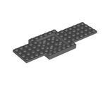 Vehicle, Base 6 x 16 x 2/3 with 4 x 4 Recessed Center and 4 Holes, Dark Bluish Gray (52037 / 4259901 / 6249995)