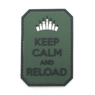 Патч Keep Сalm and Reload ПВХ (7,5 х 5 см)