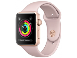 APPLE WATCH SERIES 3 38MM GOLD ALUMINIUM WITH PINK SPORT BAND