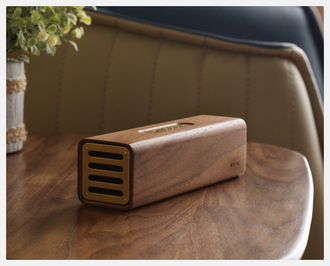 Колонка портативная Xiaomi Bronze Master Copper Wood Bluetooth Speaker