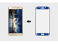 Защитное стекло Ainy Full Screen 3D для Samsung S6 Edge Plus (синее)