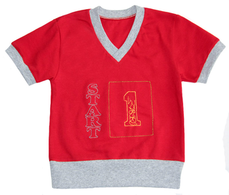 Футболка для мальчика (Артикул 2148-342) цвет красный