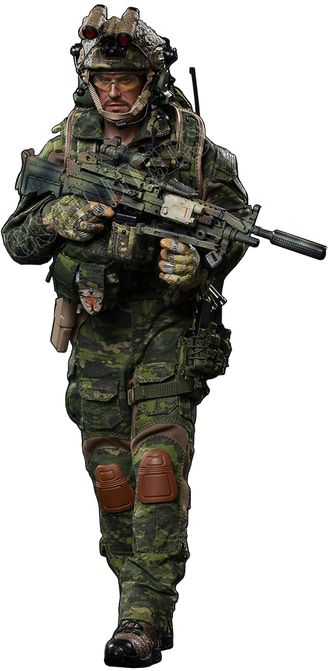 Боец DEVGRU - Коллекционная ФИГУРКА 1/6 scale Collectible Figure US seals 6 team DEVGRU jungle dagger action (73020) - FLAGSET
