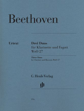 Beethoven Three Duos WoO 27 for Clarinet and Bassoon