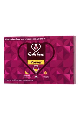 84 КАПЛИ ДЛЯ ЖЕНЩИН FORTE LOVE POWER, 7 АМПУЛ ПО 2,5 МЛ