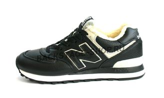 Кроссовки New Balance 574 All Black с мехом