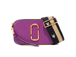 MARC JACOBS Snapshot Leather Camera Bag Purple/Multi