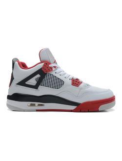 Nike Air Jordan 4 Retro Fire Red Белые Мужские