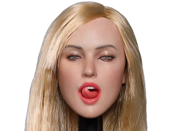 Женская голова (скульпт) 1/6 scale European and American sexy expression beauty head carving second shells (GC021A) - GACTOYS