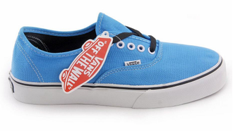 Кеды vans authentic голубые