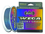 Плетеный шнур BAT WEGA SMOKY GRAY 100m  0,19/16.5kg