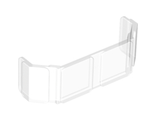Glass for Train Front 2 x 6 x 2, Trans-Clear (17457 / 6173965 / 6284181)