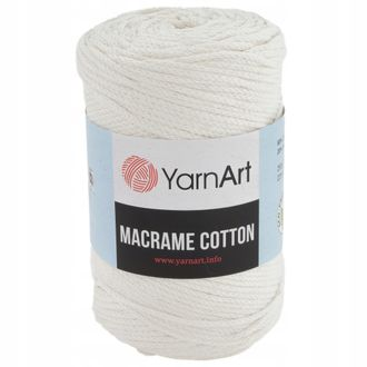 Yarnart Macrame cotton 752 кремовый